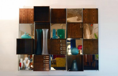 Wall unit modular furniture on design of the 70s