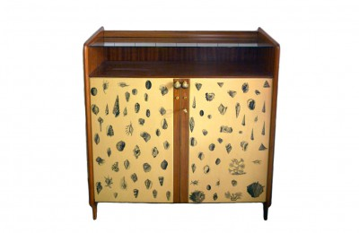 Mid-century handcrafted furniture decorated wood