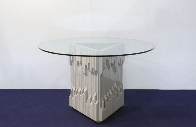 Luciano Frigerio 'Norman' table in solid lacquered wood