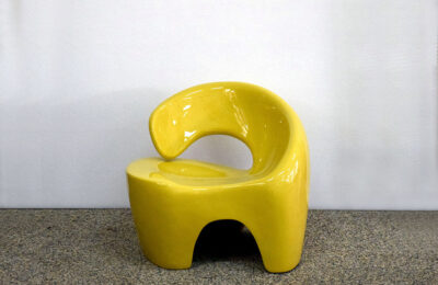Space Age easy chair in fiberglass, 1970s Italian production