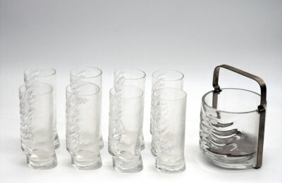 Arnolfo Di Cambio, Il Colle drinking set for 8 with ice bucket, 1970s